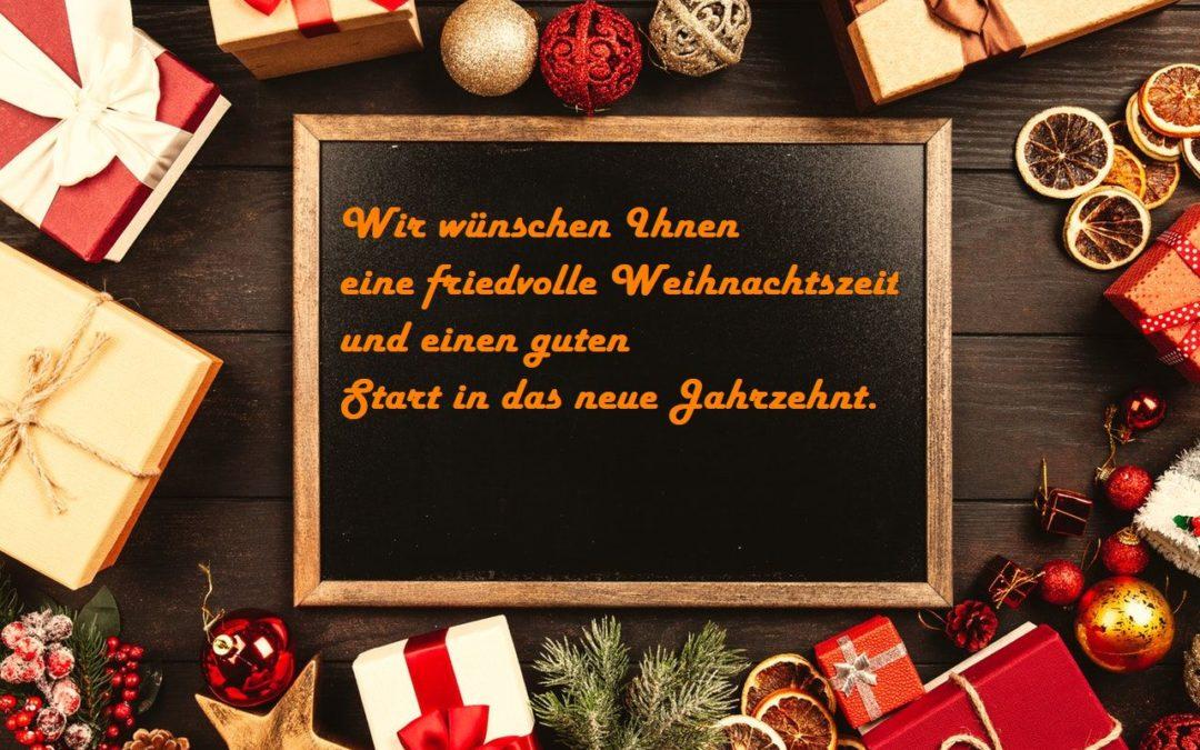Weihnachtszeit und Jahreswechsel
